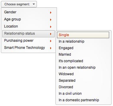 Opentracker relationship status segmentation