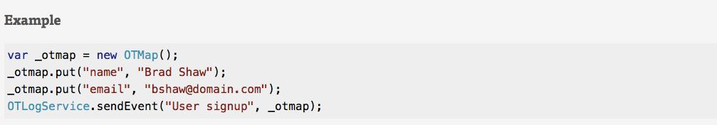 custom event code
