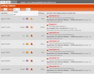 Screenshot of visitors exiting report