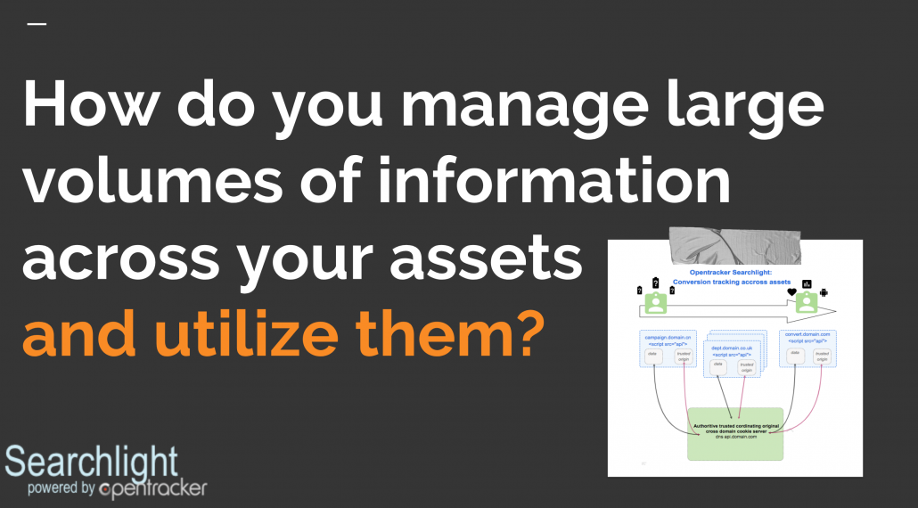 how do you manage large volume of information around your assets